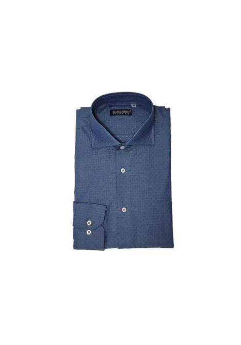 camicia cotone operato MARCO FERRINI | Camicia | COTTON OPERATO 213BLU