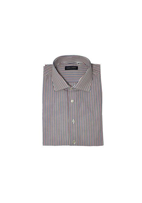 camicia cotone rigato Multicolor MARCO FERRINI | Camicia | COTTON RIGATO 133ROSSO