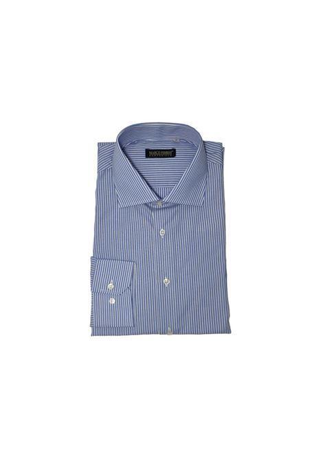 camicia cotone rigato fondo colorato MARCO FERRINI | Camicia | COTTON RIGATO 963AZZURRO