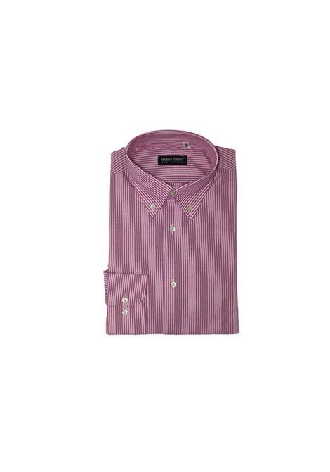 camicia cotone b/d rigato fondo colorato MARCO FERRINI | Camicia | COTTON RIGATO B/D 963FRAGOLA