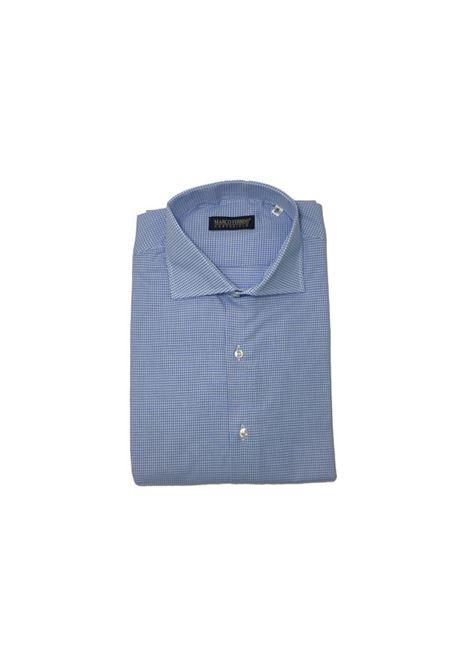 camicia cotone quadri MARCO FERRINI | Camicia | QUADRI 101AZZURRO