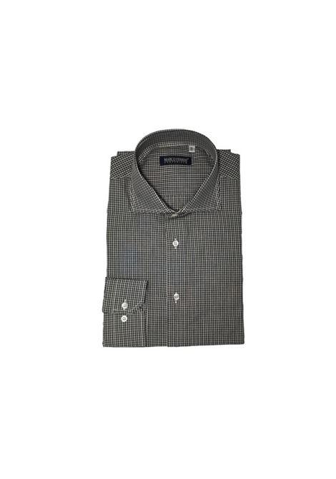 camicia cotone quadri MARCO FERRINI | Camicia | QUADRI 101NERO