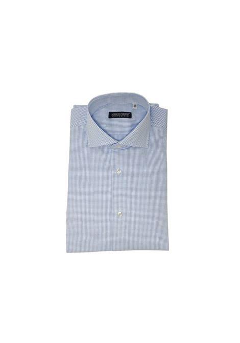 camicia quadretti cotone MARCO FERRINI | Camicia | QUADRO101CELESTE