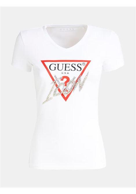 T-SHIRT GUESS GUESS | T-shirt m/m | W01I20J1300TWHT