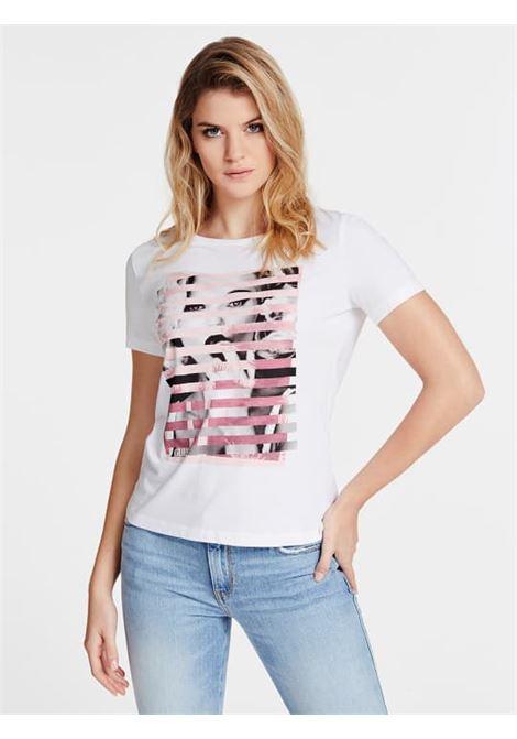 T-SHIRT GUESS GUESS | T-shirt m/m | W0GI40K46D0TWHT