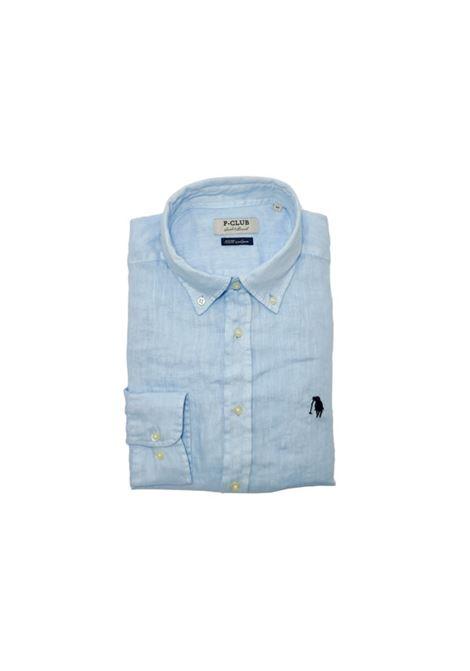 camicia lino uomo POLO BEVERLY HILLS | Camicia | CAMPRIMOTCAZZURRO