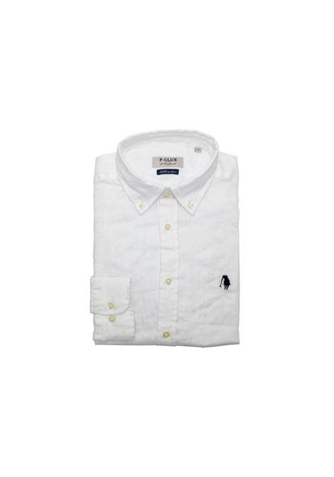 camicia lino uomo POLO BEVERLY HILLS | Camicia | CAMPRIMOTCBIANCO