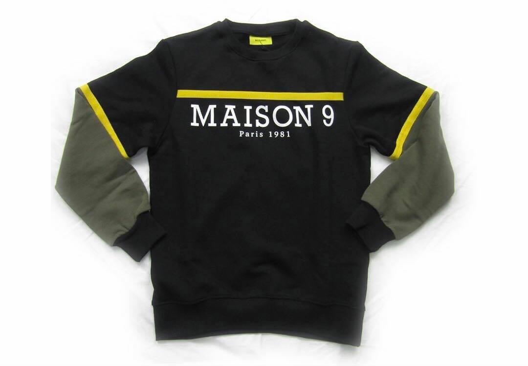 FELPA MAISON 9 PARIS M9P | Felpa | M9P19AI631NERO