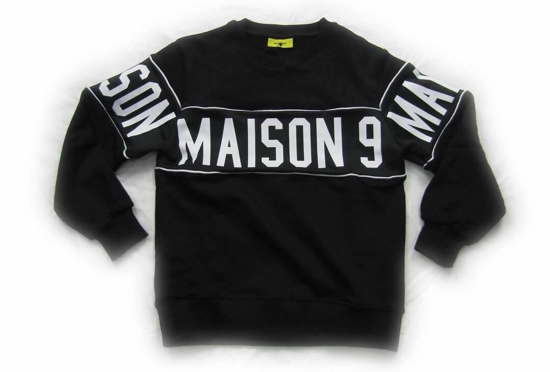 FELPA MAISON 9 PARIS M9P | Felpa | M9P19AI641NERO