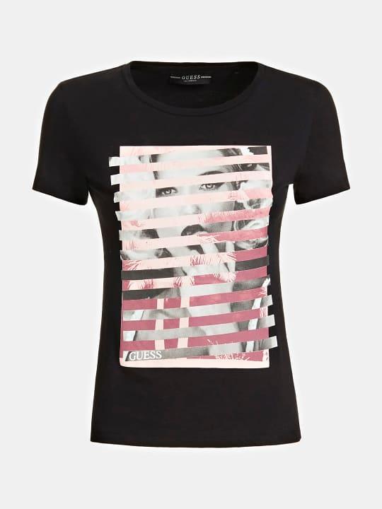 T-SHIRT GUESS GUESS   T-shirt m/m   W0GI40K46D0JBLK