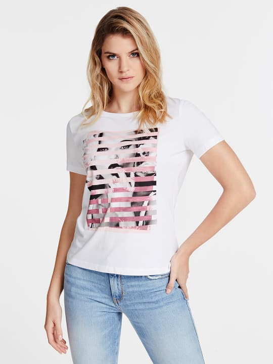 T-SHIRT GUESS GUESS   T-shirt m/m   W0GI40K46D0TWHT
