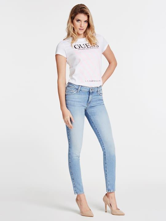 T-SHIRT GUESS GUESS | T-shirt m/m | W0GI57JA900TWHT