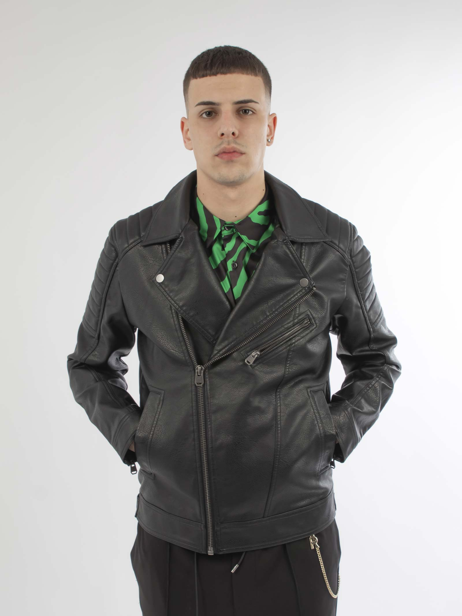 Biker jacket JACK & JONES | Giubbini | 12165488NERO