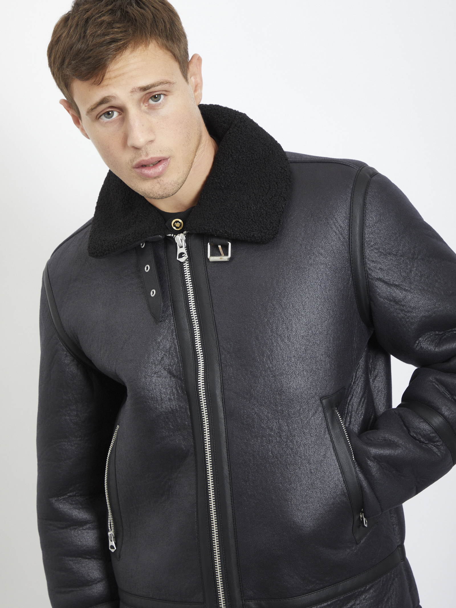 sheepskin JACK & JONES | Jacket | 12175523NERO