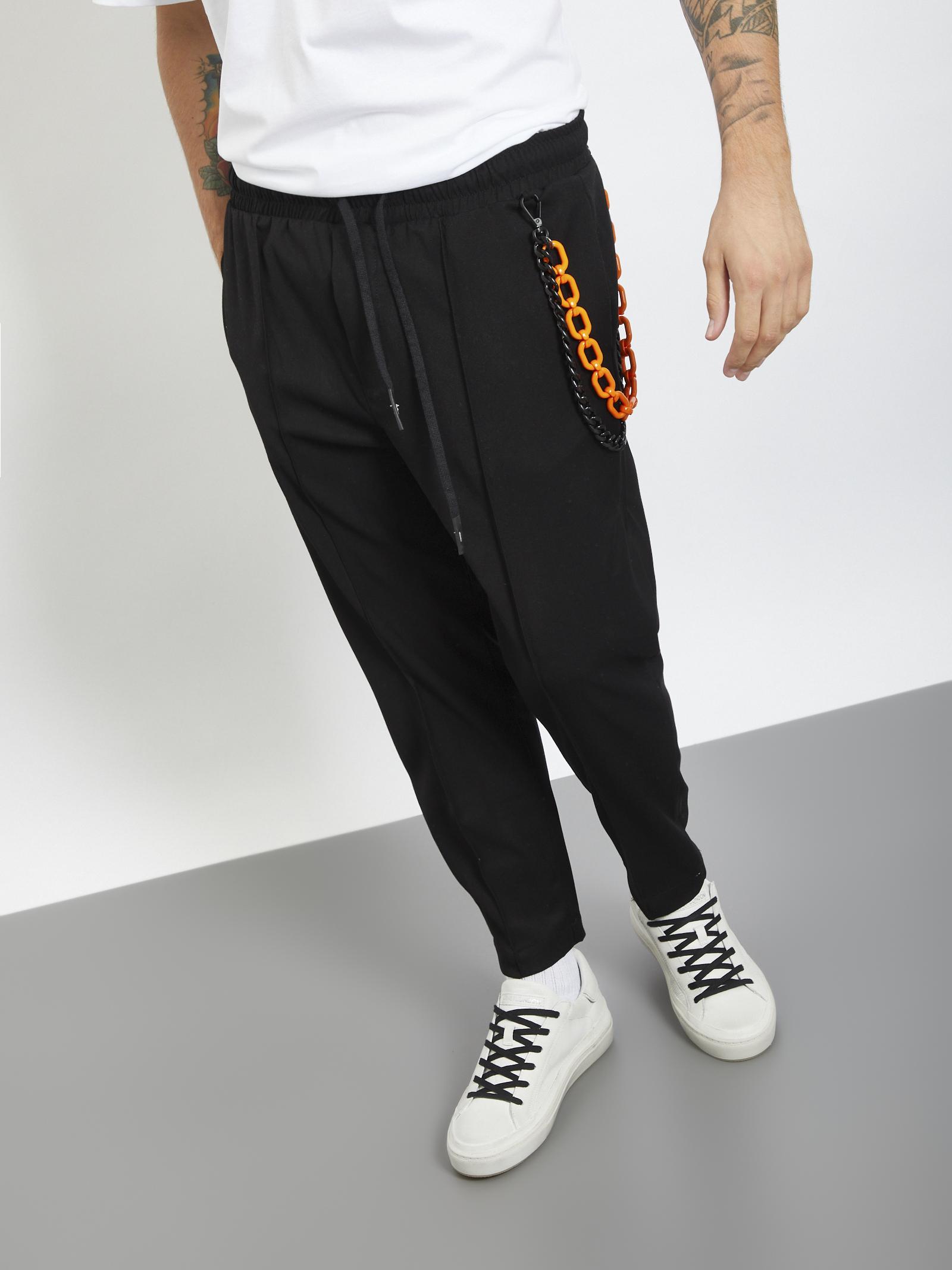 Pants con accessorio MASTERPIECE | Pantaloni | RV39220UNERO