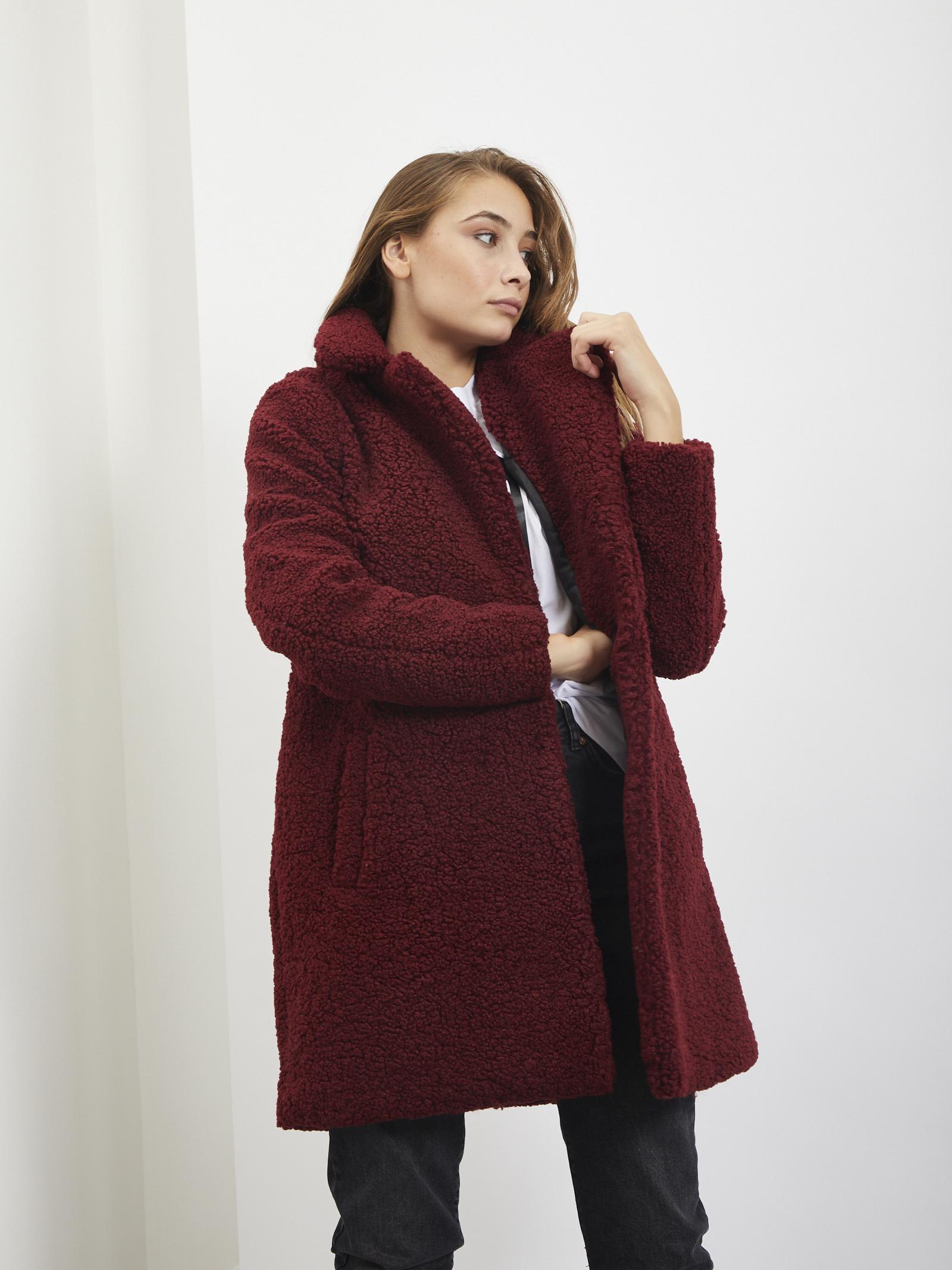 Teddy jacket NOISY MAY | Coat | 27003719BORDEAUX