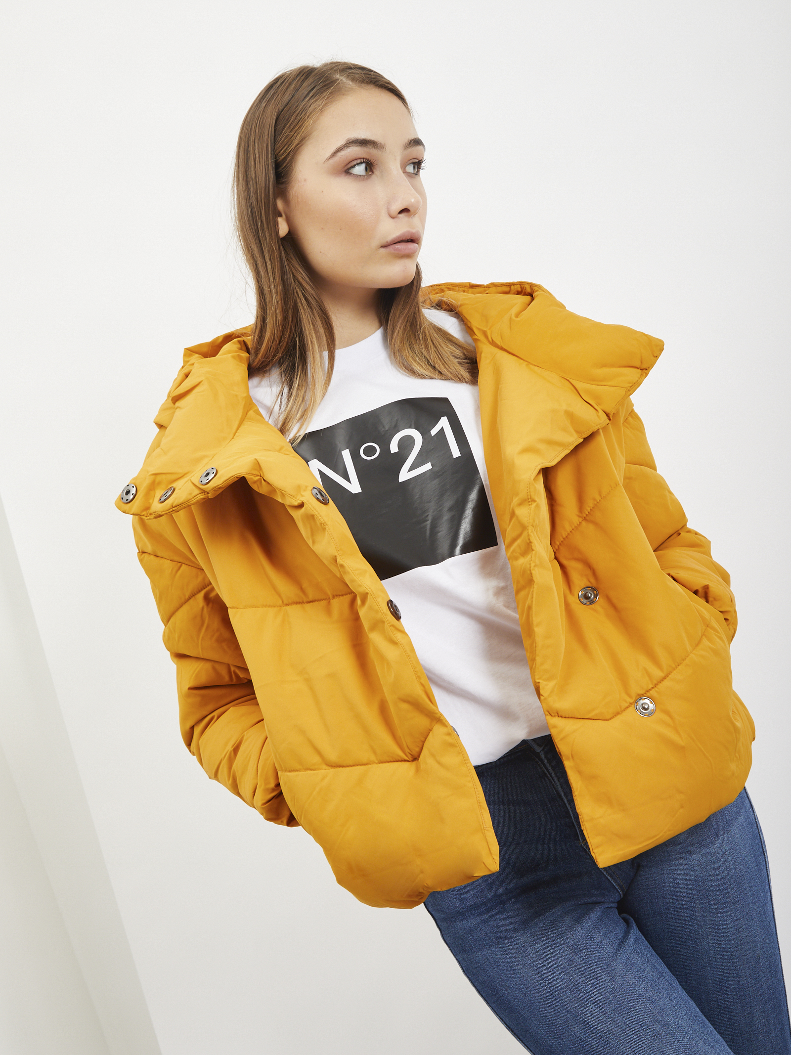 DOWN JACKET NOISY MAY | Jacket | 27011845GIALLO