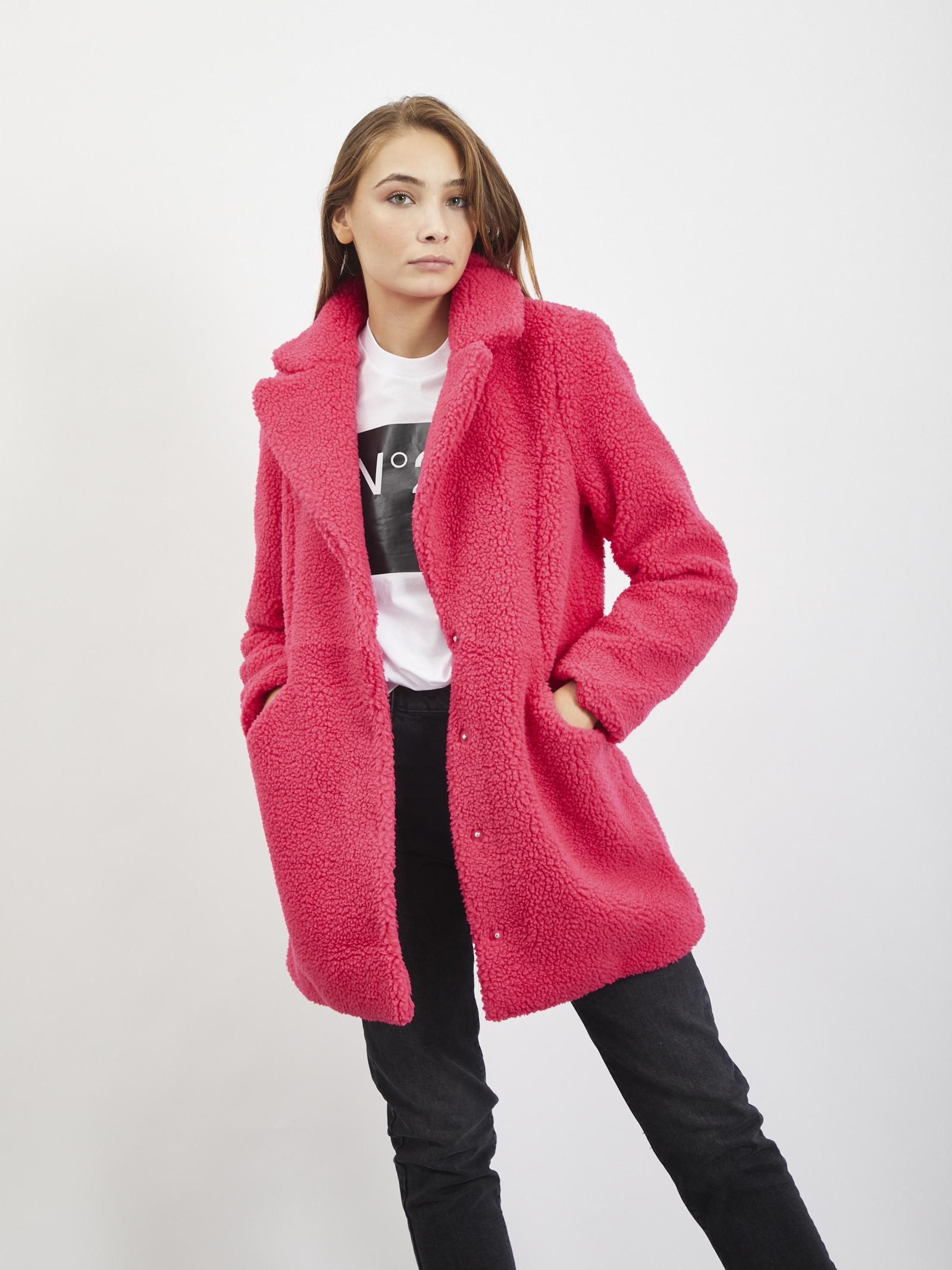 Teddy coat VERO MODA | Coat | 10230914FUXIA