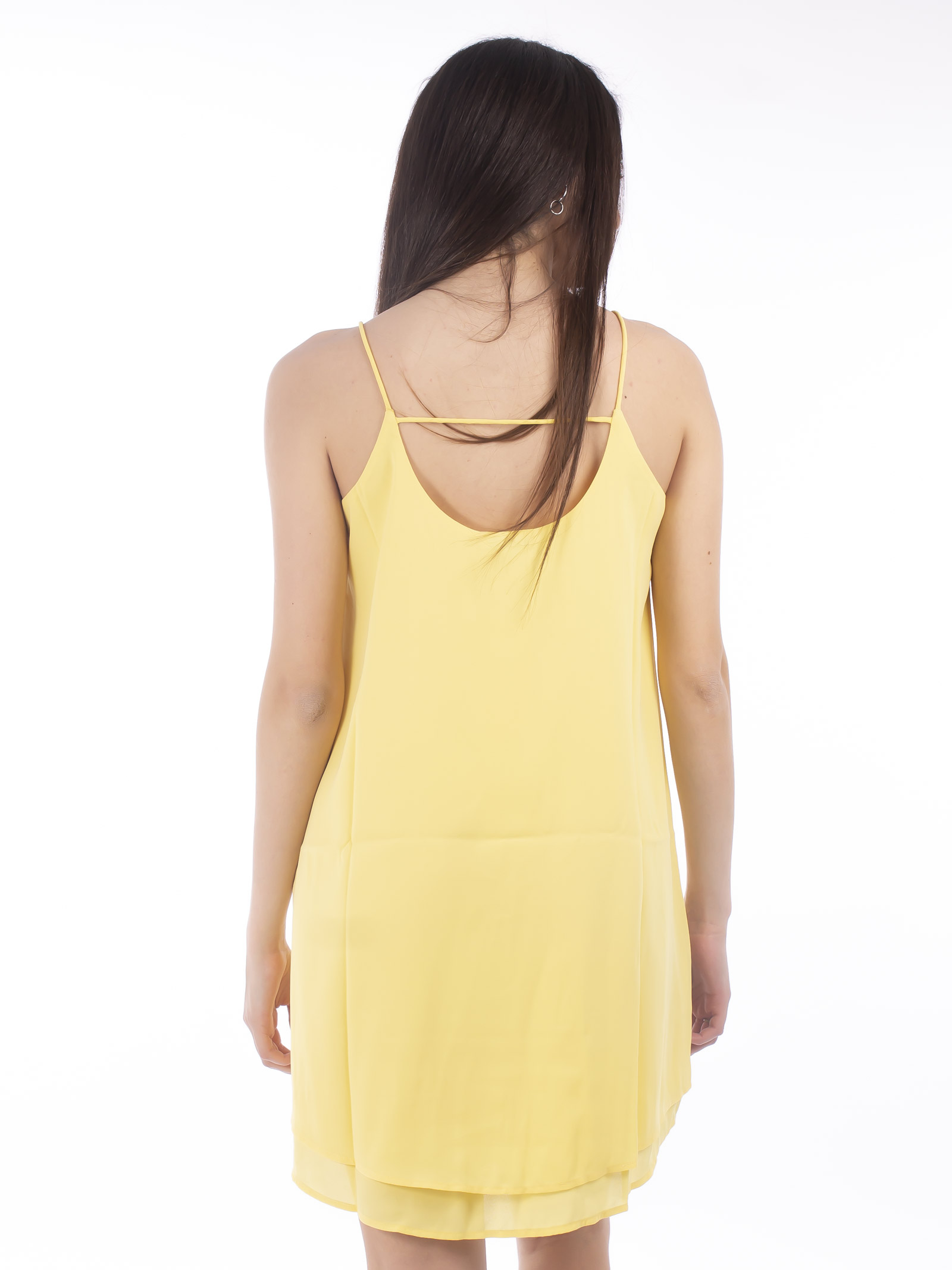 PIECES | dress | 17100899GIALLO