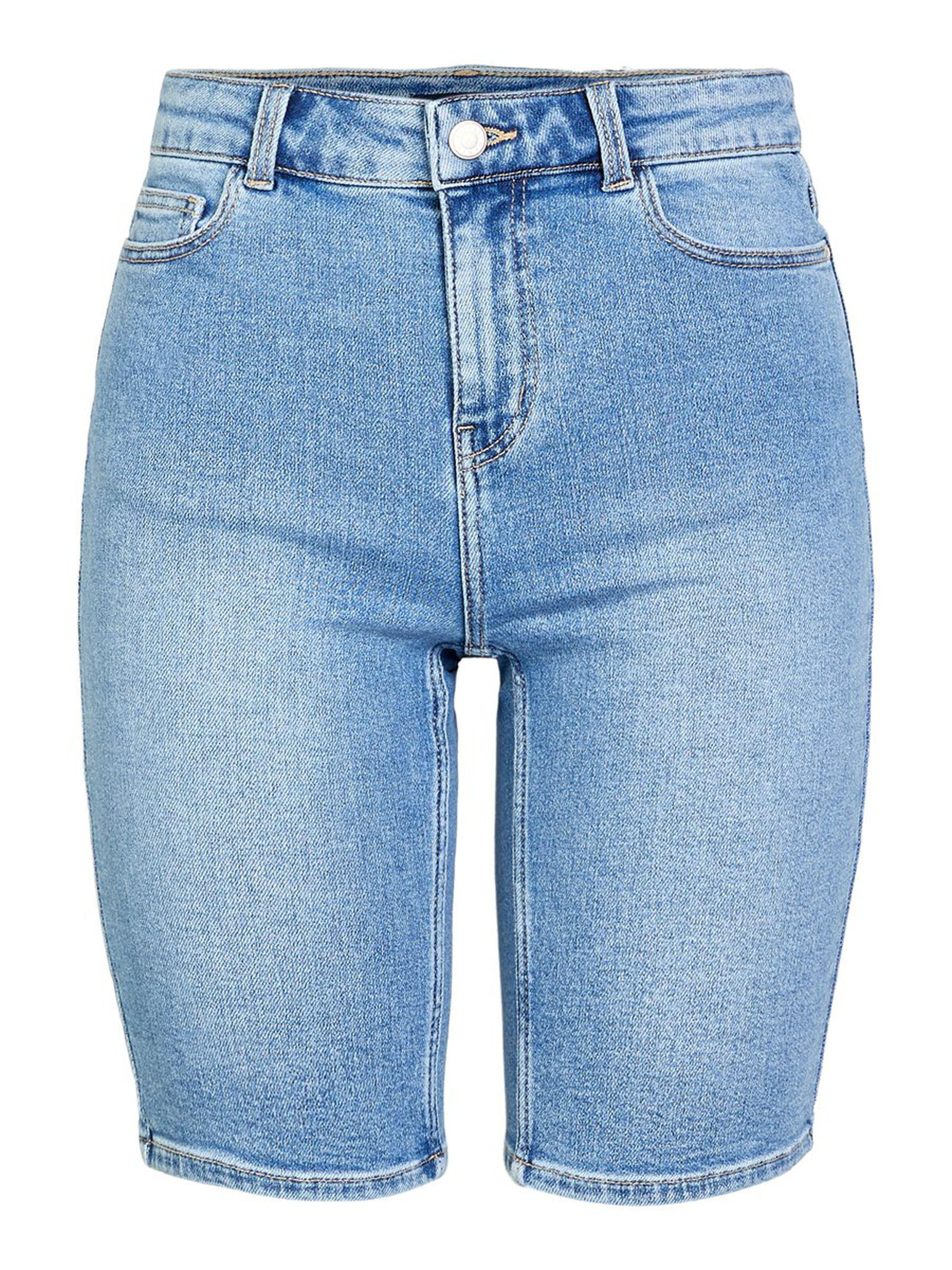 LONGLINE DENIM SHORTS PIECES | Shorts | 17102246JEANS
