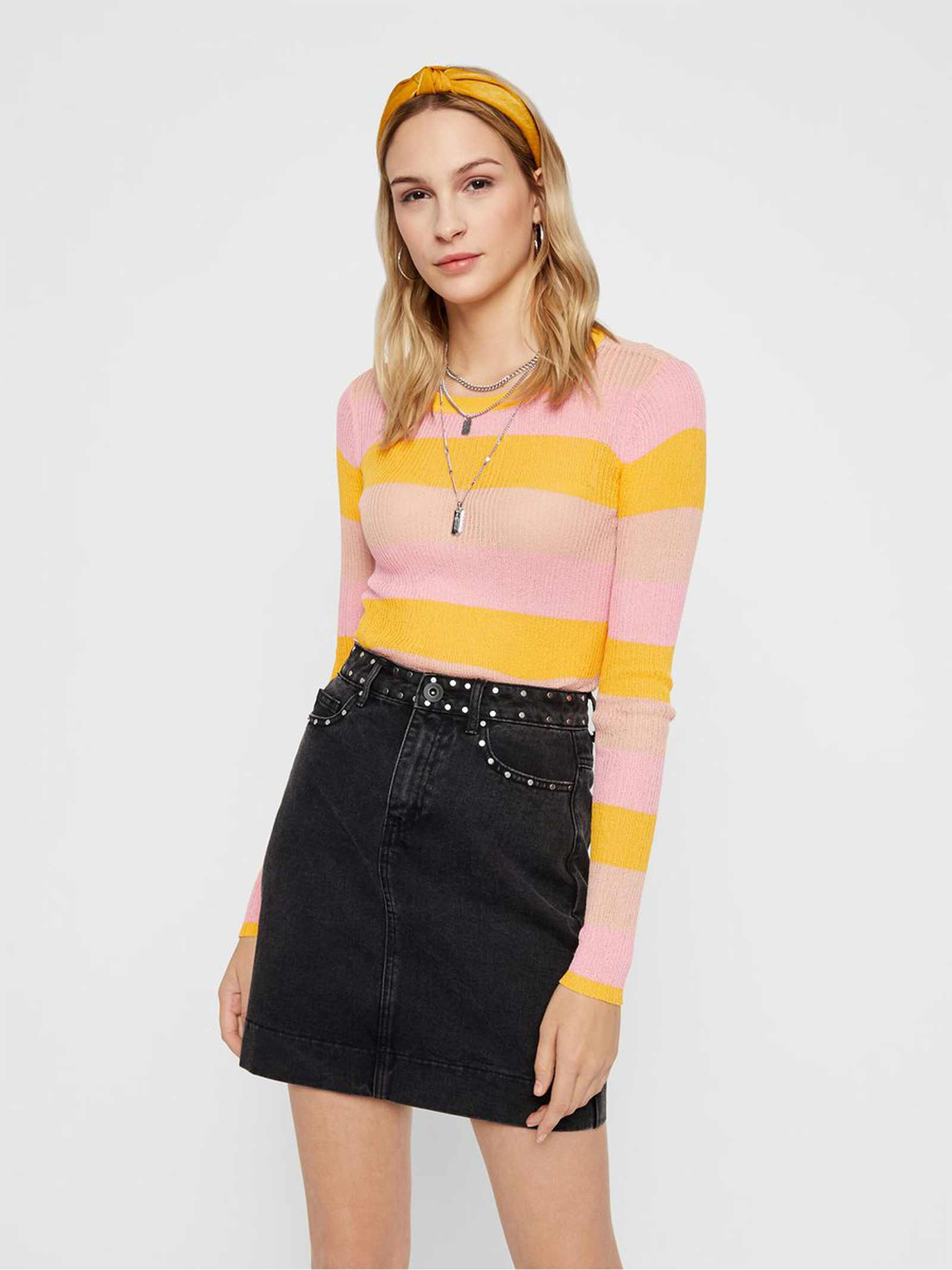PIECES | Shirts | 17102586GIALLO