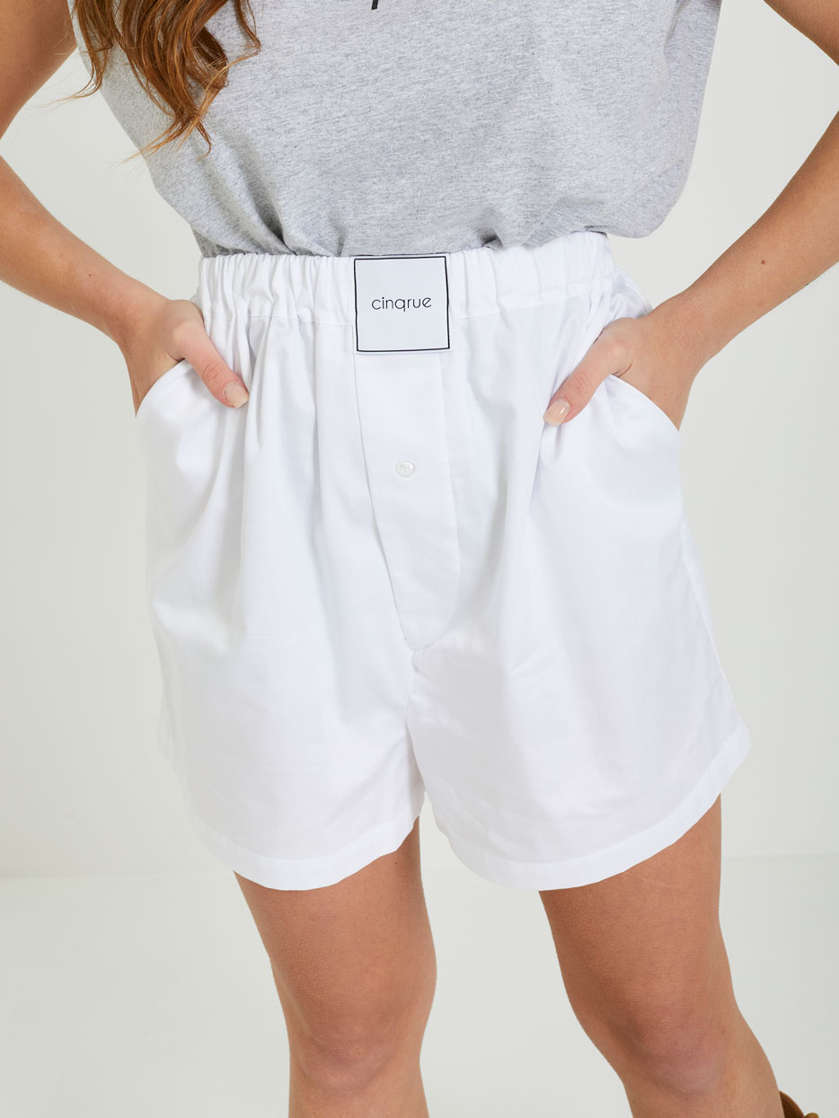 Short 5 RUE   Shorts   SS1051BIANCO