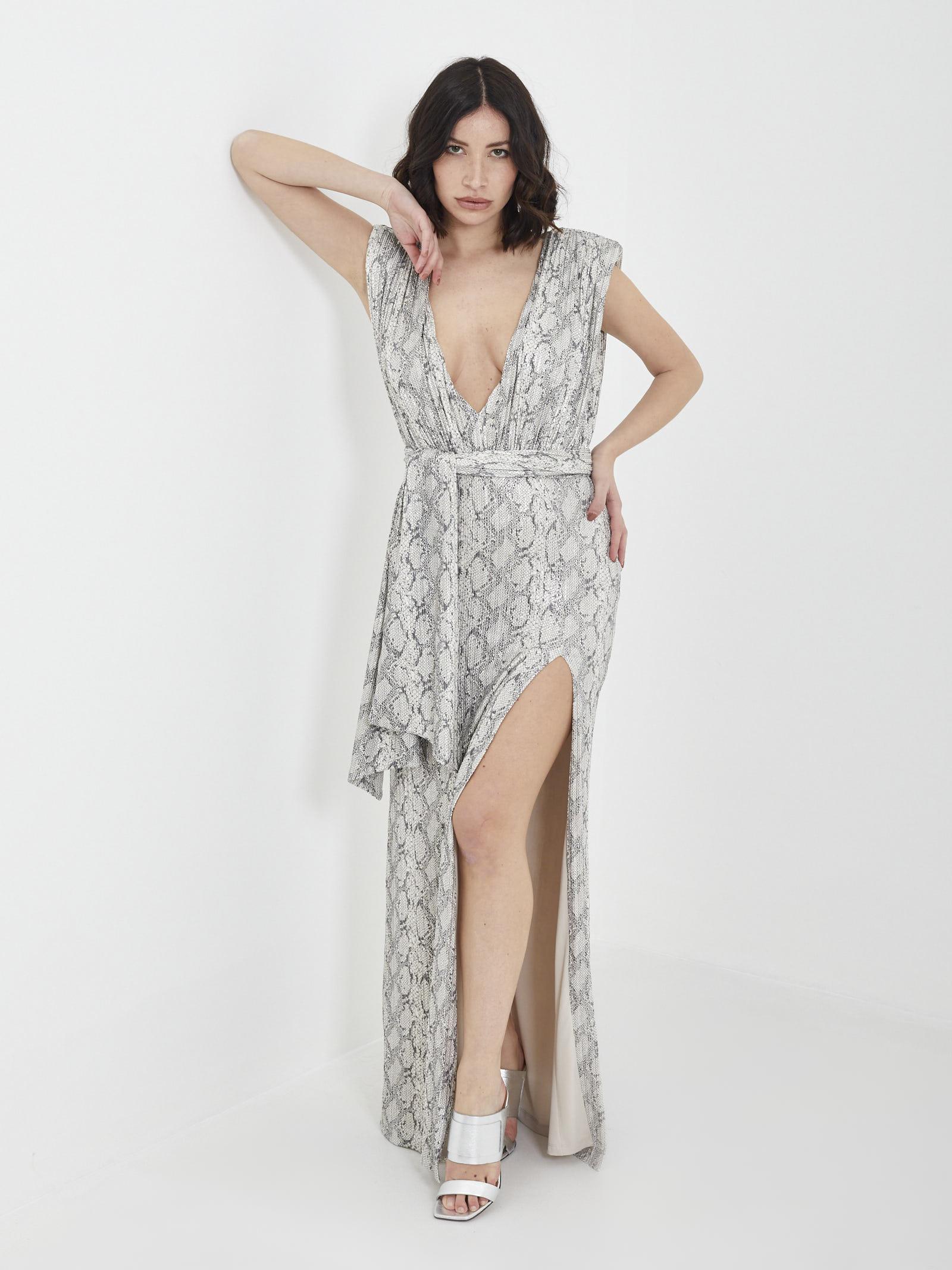 Long Dress DRAME'E | dress | 21070ARGENTO