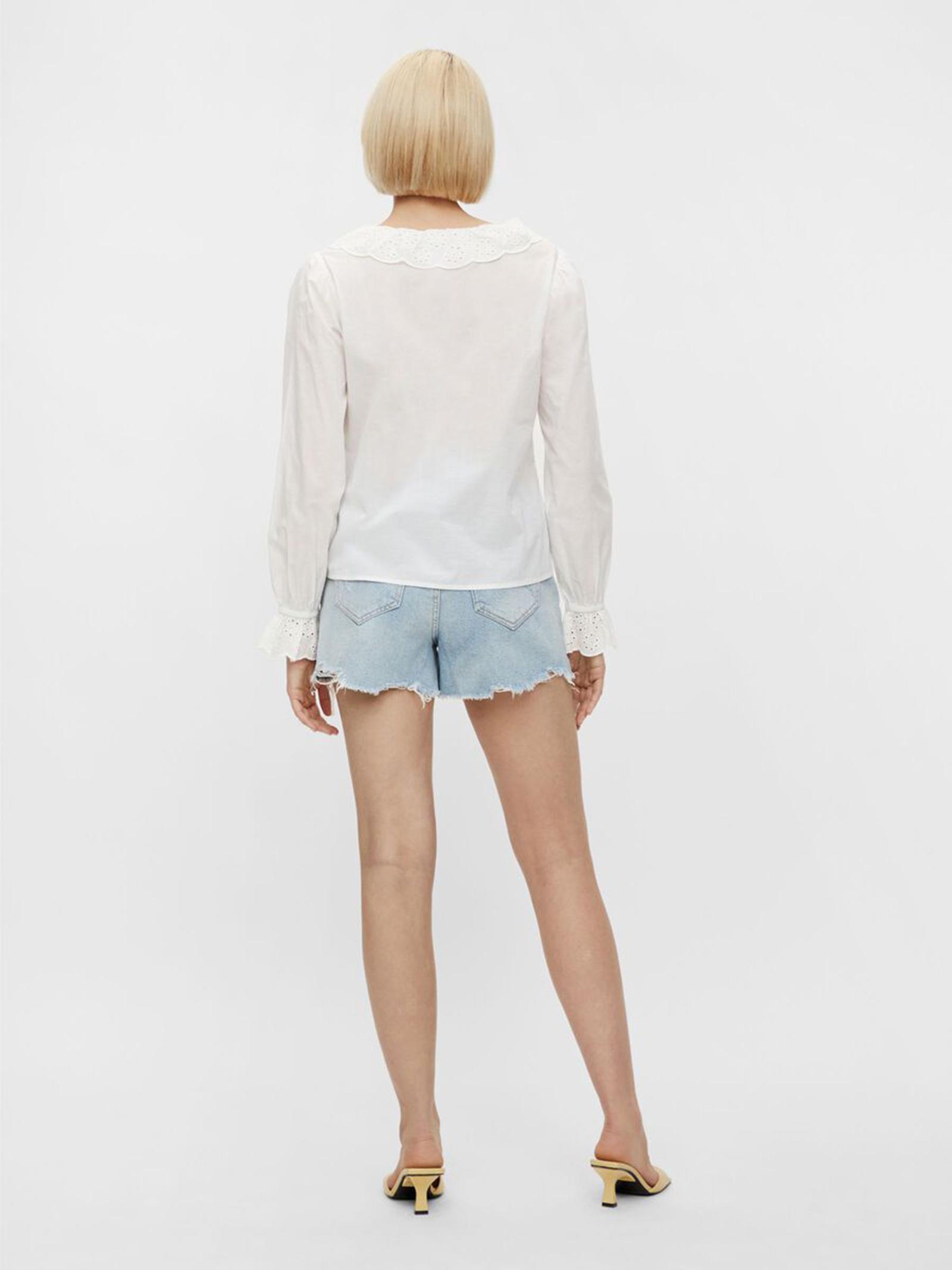 Shirt PIECES   Shirts   17112595BIANCO