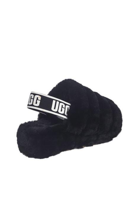 Ugg Fluff Yeah Logo Slide UGG | Sandali | UGSFLYSLBK1095119WNERO