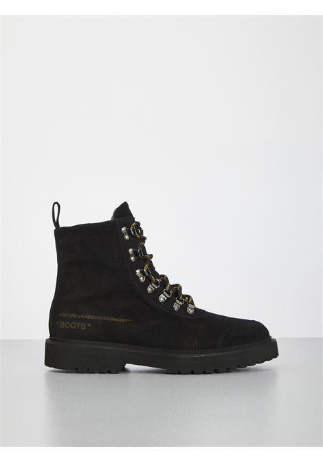 Black boots ASENSYO | Combat Boot | BOOTS CAMOSCIONERO