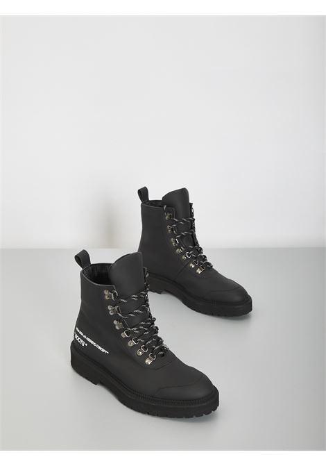 Black boots ASENSYO | Combat Boot | BOOTS GOMMATONERO