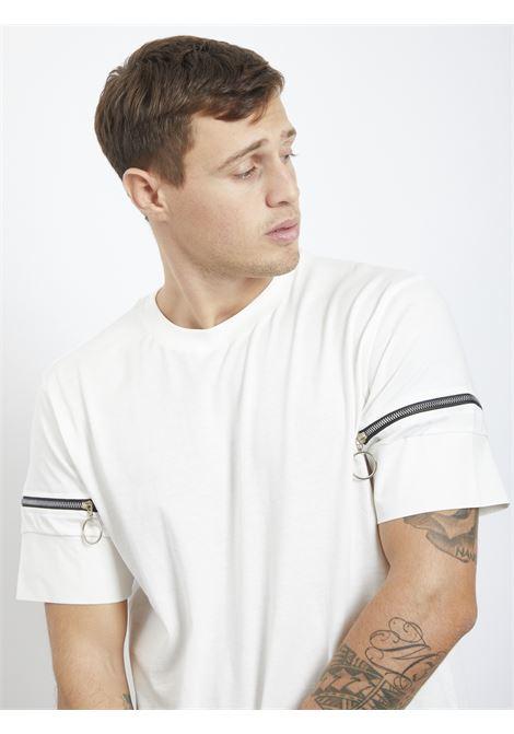 T-shirt con zip BLACK CIRCUS | T-shirt | TSU9058FBIANCO