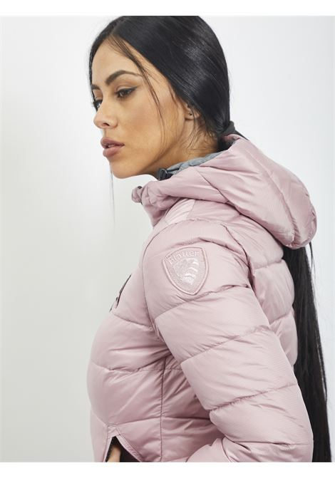 STRIPED PADDED DOWN JACKET WITH HOOD BLAUER | Quilted Jacket | 20WBLDC02086  527ROSA