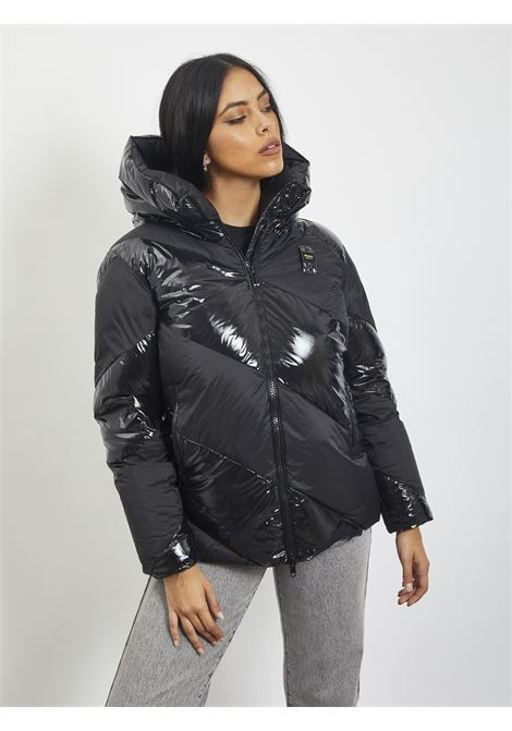 Glossy and opaque duvet BLAUER | Quilted Jacket | 20WBLDC03120 999NERO