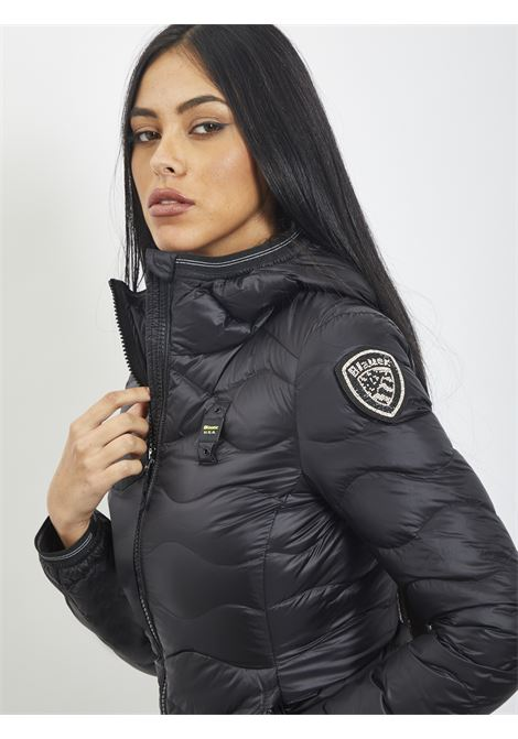 Wave quilt BLAUER | Quilted Jacket | 20WBLDC03569 999NERO