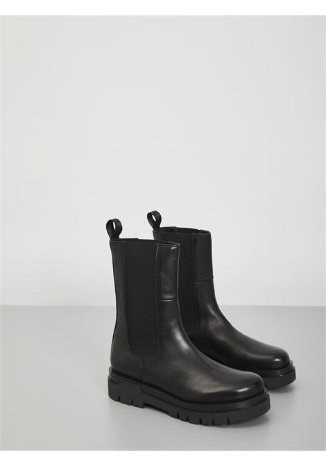 Bowie in leather CARMENS | Combat Boot | A46055 PNERO