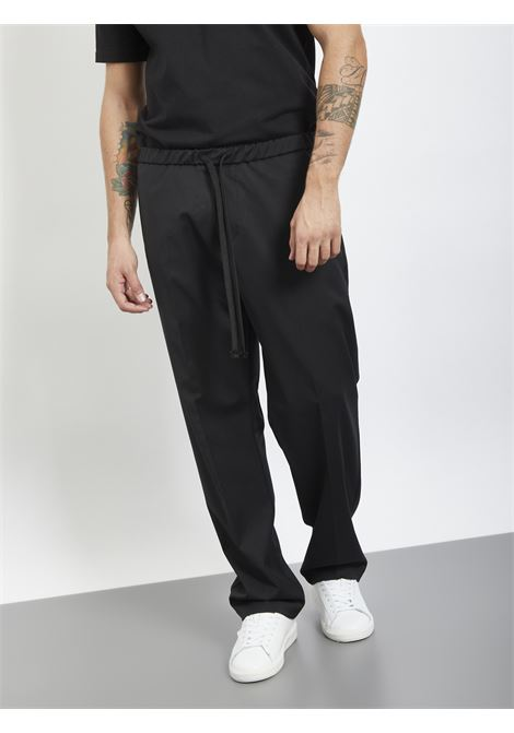 Wide bottom pants I'M BRIAN | Trousers | PA1499NERO