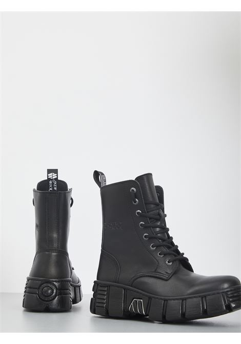 NEW ROCK | Combat Boot | NRSM-WALL026NBASA-CINERO