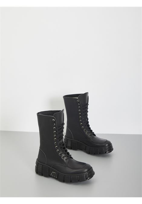 NEW ROCK | Combat Boot | NRSM-WALL029N-CINERO