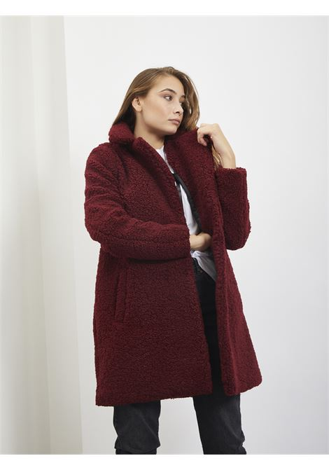 Teddy jacket NOISY MAY | Coat | 27003719BORDEAUX