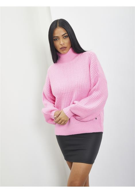 High neck pull over NOISY MAY | Sweaters | 27012447FUXIA