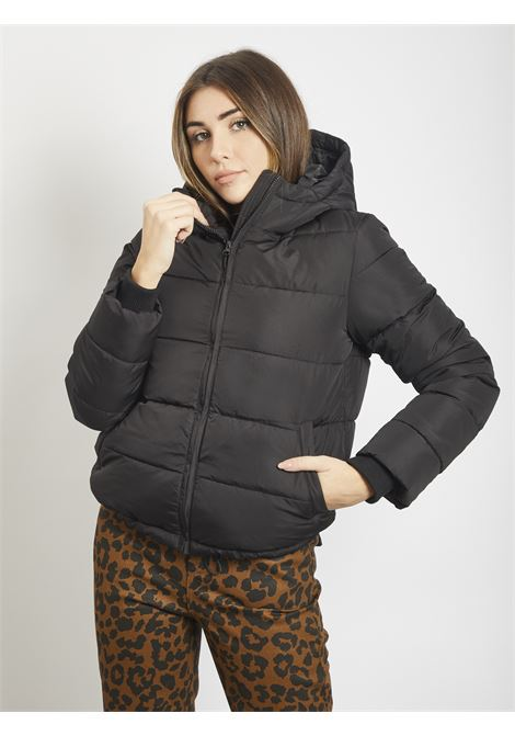 Down jacket PIECES | Quilted Jacket | 17105582NERO