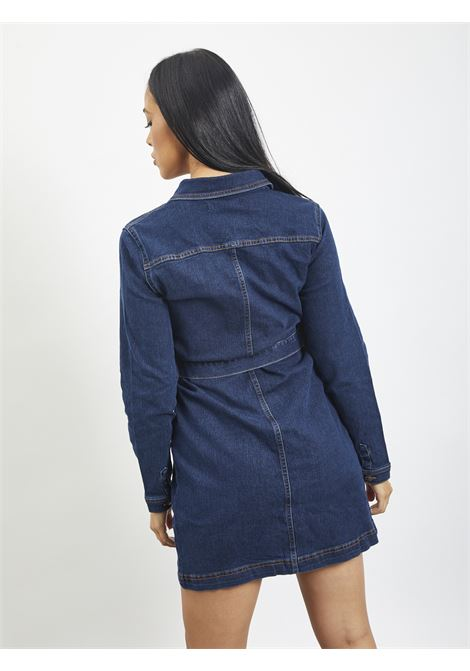 Long denim shirt PIECES | dress | 17105866BLU