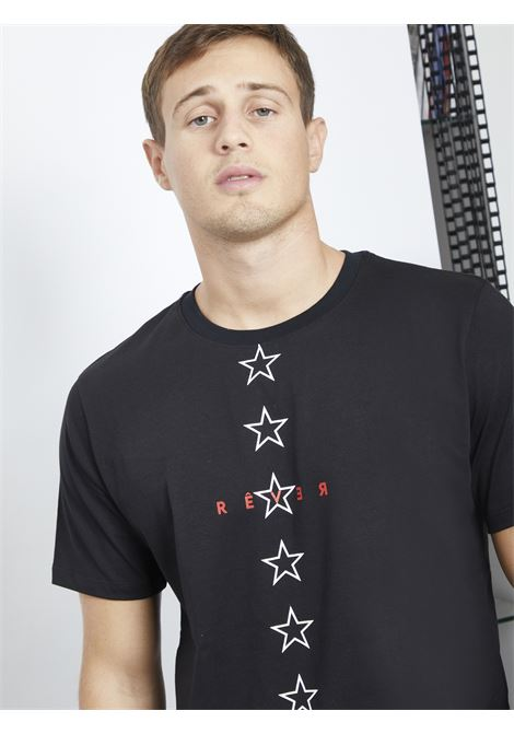 T-shirt con stampa REVER | T-shirt | RA05220UNERO