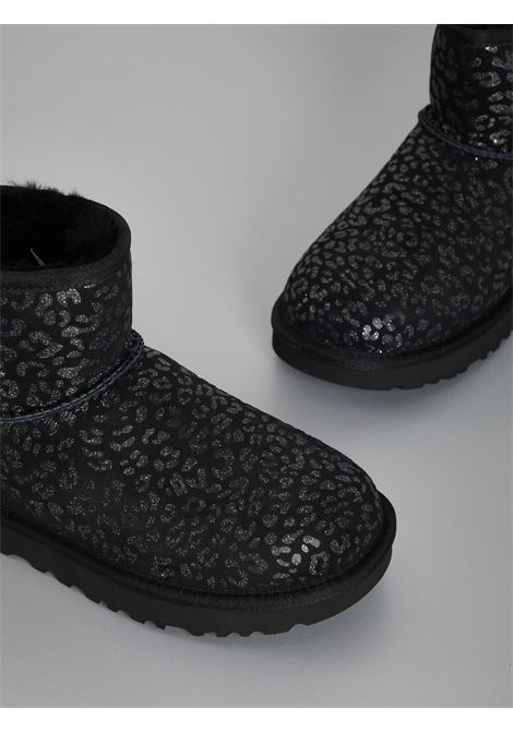 MINI CLASSIC SNOW LEOPARD UGG | Boots | UGSCLMSNLWH1113494WNERO