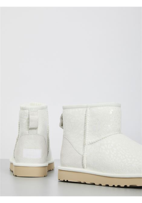 MINI CLASSIC SNOW LEOPARD UGG | Boots | UGSCLMSNLWH1113494WBIANCO