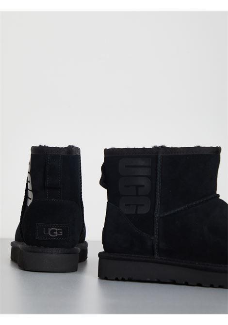 CLASSIC MINI LOGO RUBBER UGG | Stivali | UGSCLMUGRLBK1108231WNERO