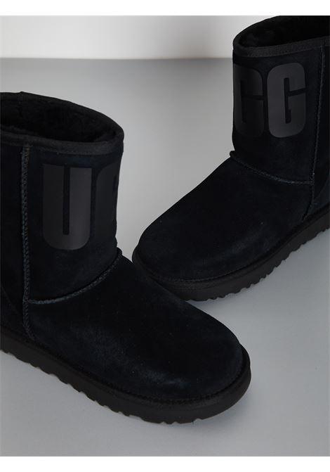 classic SHORT RUBBER LOGO UGG | Stivali | UGSCLSUGRBLK1108230WNERO
