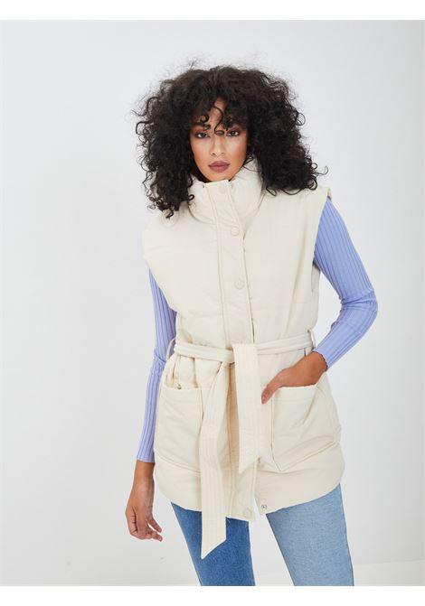 Sleeve PIECES | vests | 17115585BEIGE