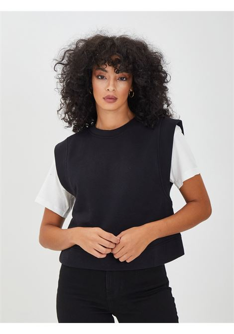 Sweatshirt PIECES | vests | 17115897NERO